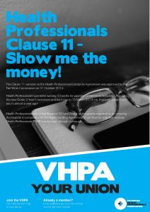 VHPA Clause 11 Poster